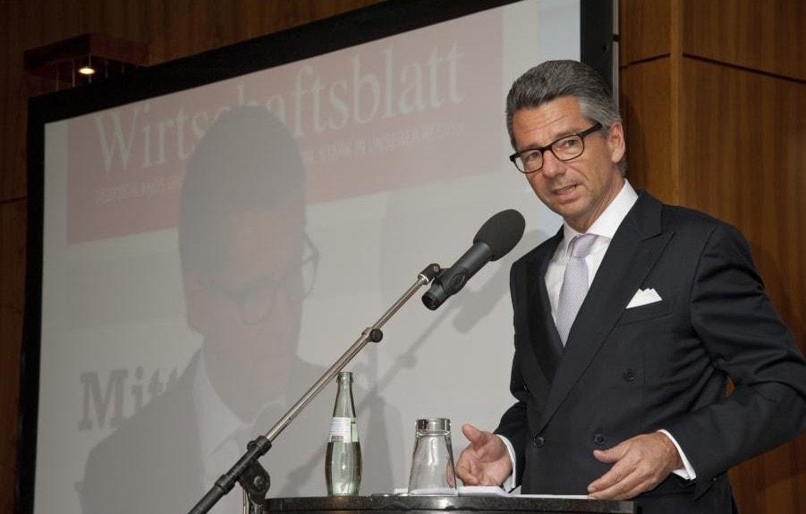 BDI-Präsident Ulrich Grillo auf dem Wirtschaftsforum 2013
