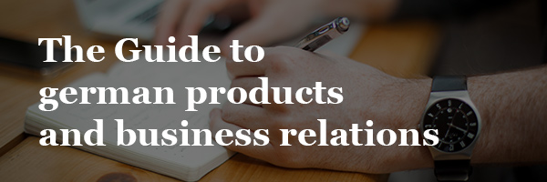 The Guide to german products and business relations