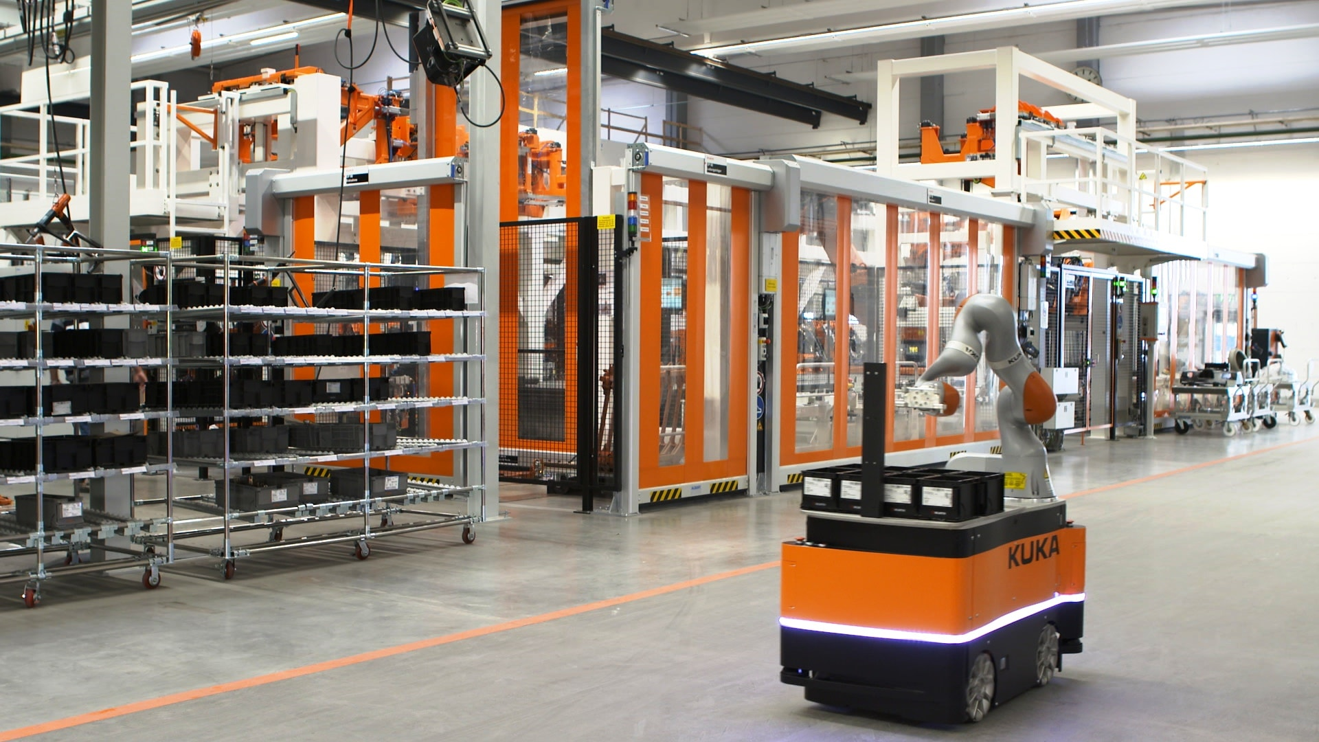 "Der ""intelligent industrial work assistant"" - kurz: KMR iiwa - in Aktion"