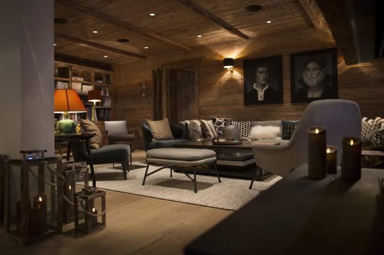 Das private Wohnzimmer des Chalets